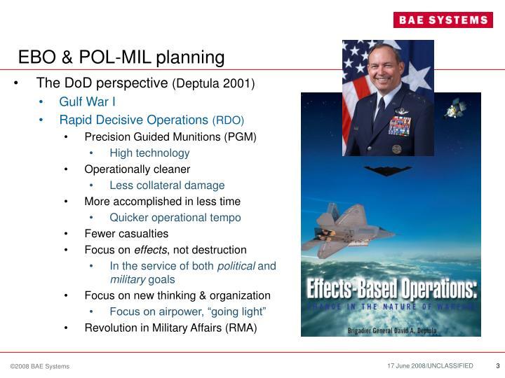EBO & POL-MIL planning