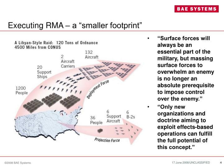"Executing RMA – a ""smaller footprint"""