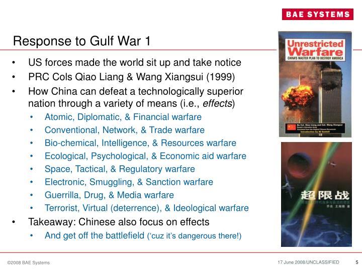 Response to Gulf War 1