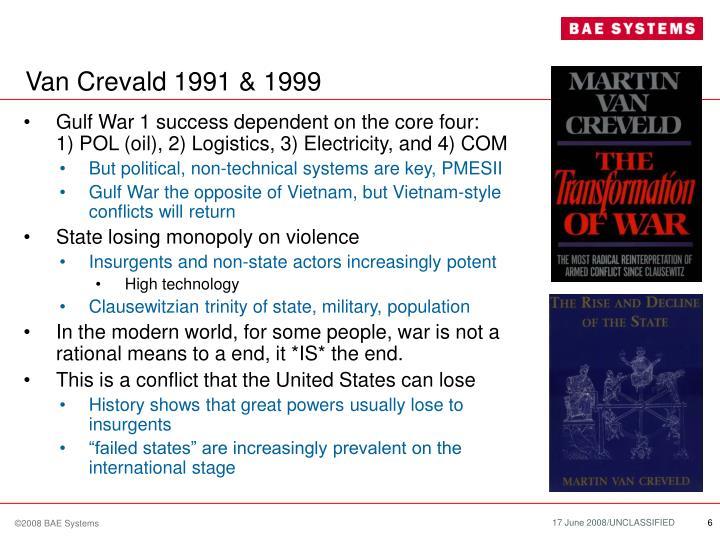 Van Crevald 1991 & 1999