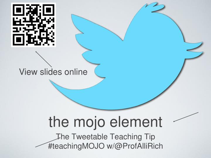 View slides online