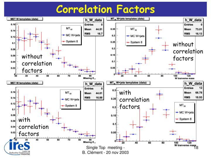 Correlation Factors