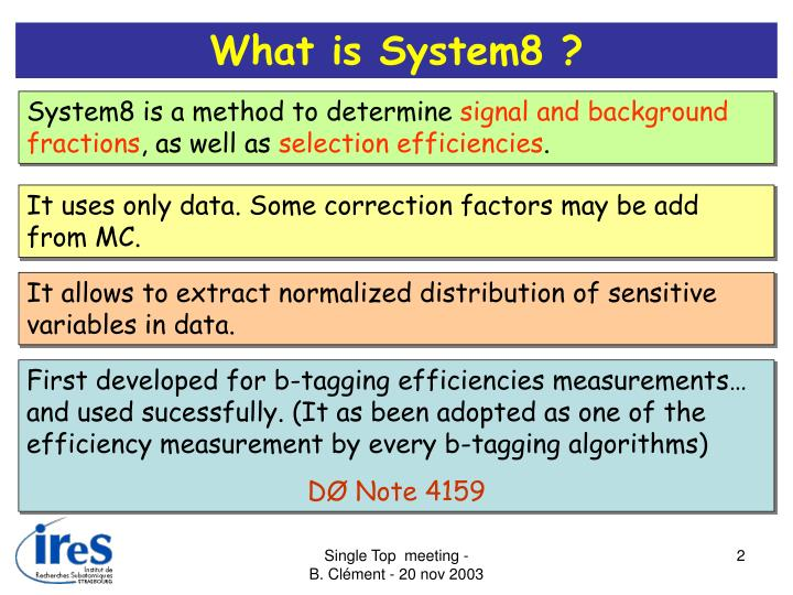 What is System8 ?