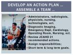develop an action plan assemble a team