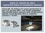 issue 47 august 24 2011 radiation risks of diagnostic imaging