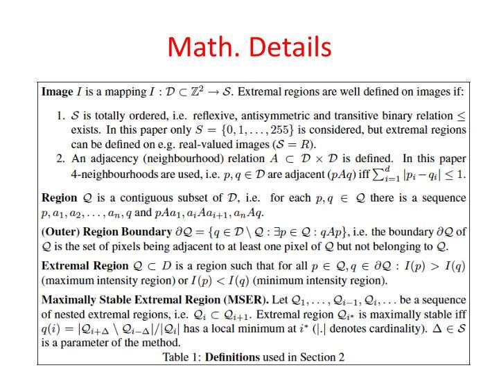 Math. Details