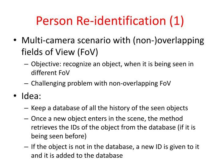 Person Re-identification (1)