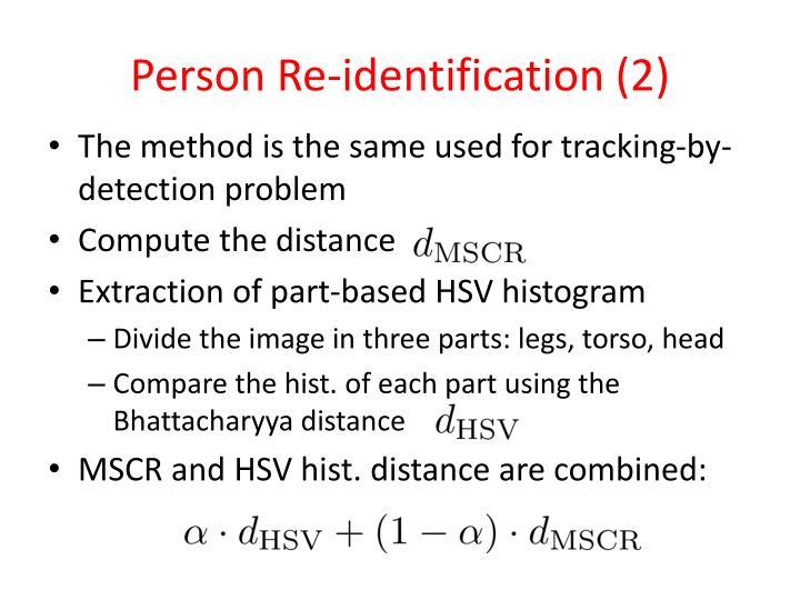 Person Re-identification (2)