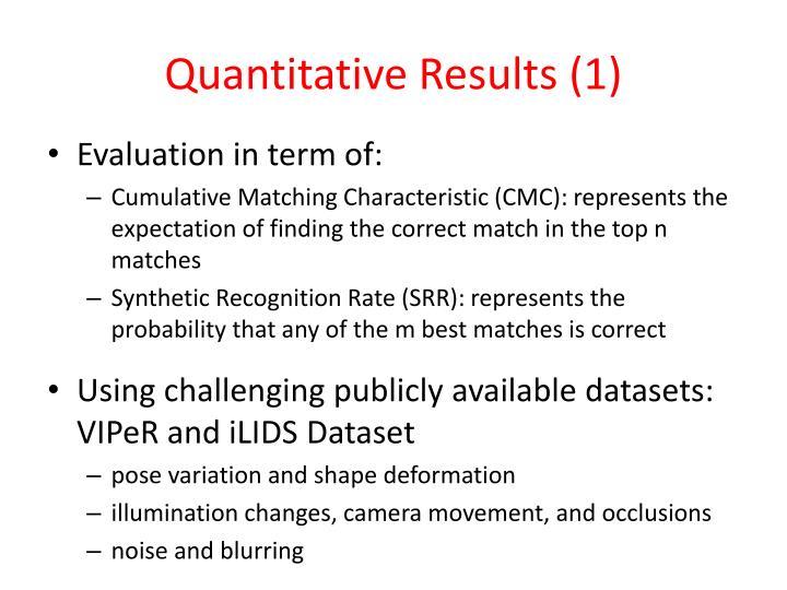 Quantitative Results (1)