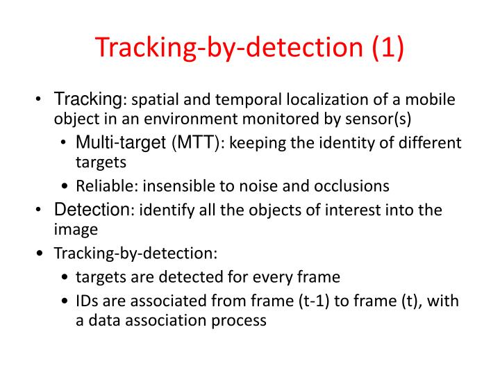 Tracking-by-detection (1)