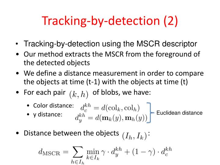 Tracking-by-detection (2)