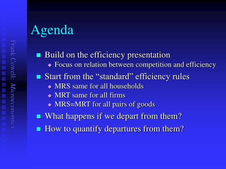 Build on the efficiency presentation