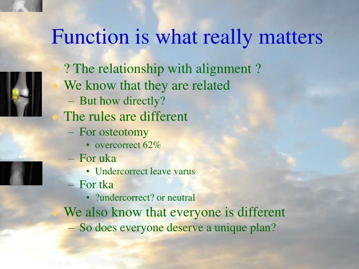 Function is what really matters