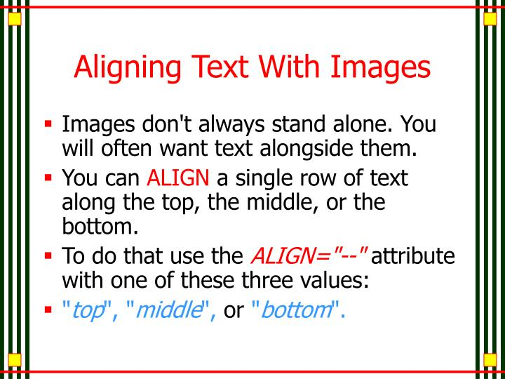 Aligning Text With Images