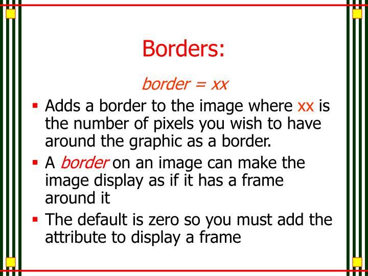 Borders: