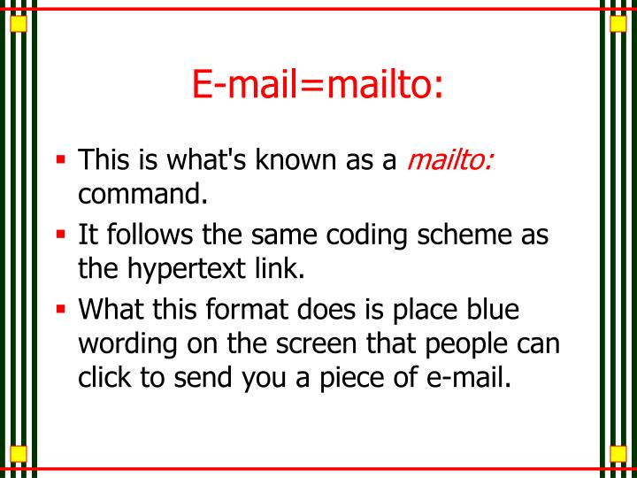 E-mail=mailto: