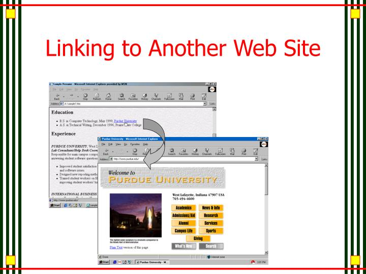 Linking to Another Web Site
