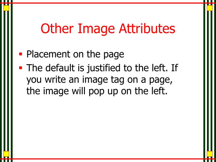 Other Image Attributes