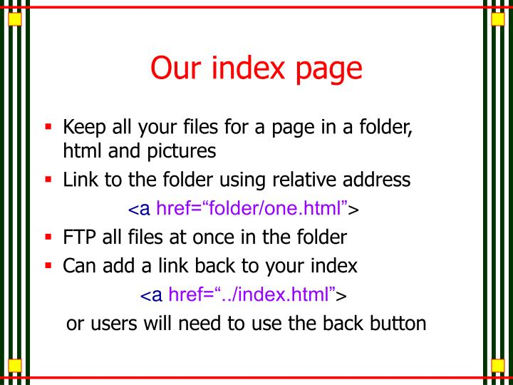 Our index page