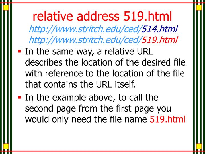 relative address