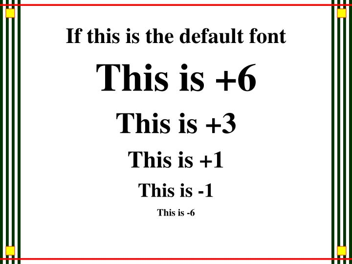 If this is the default font