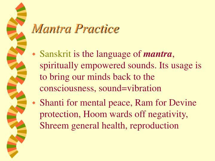 Mantra Practice