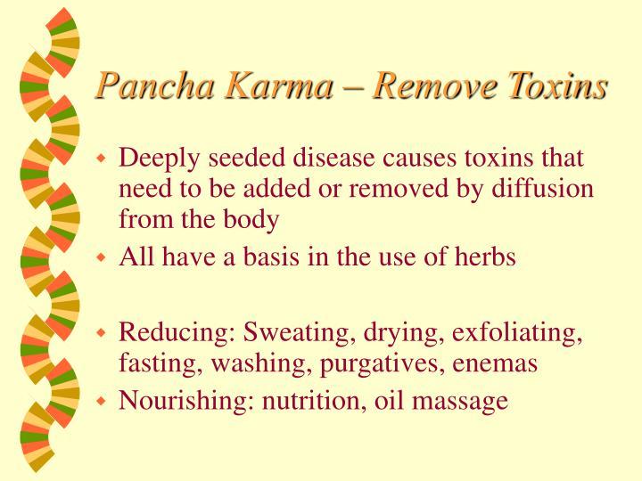 Pancha Karma – Remove Toxins