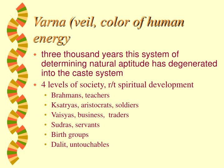 Varna (veil, color of human energy