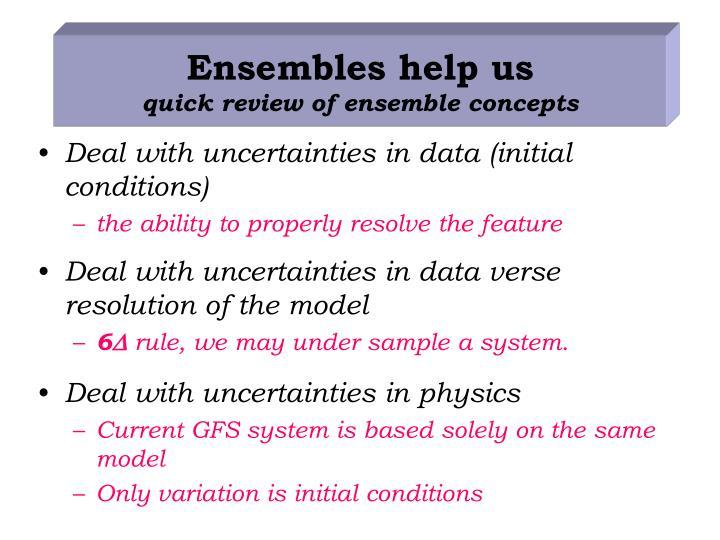 Ensembles help us