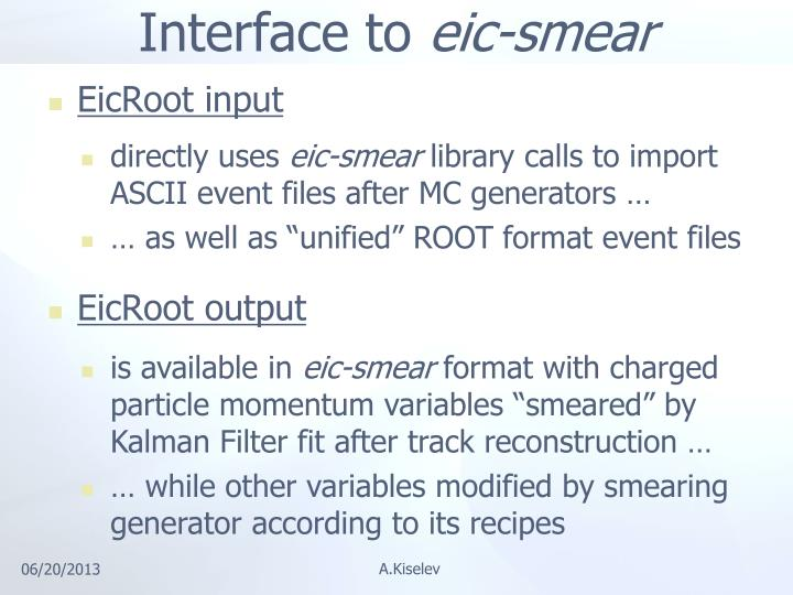 Interface to