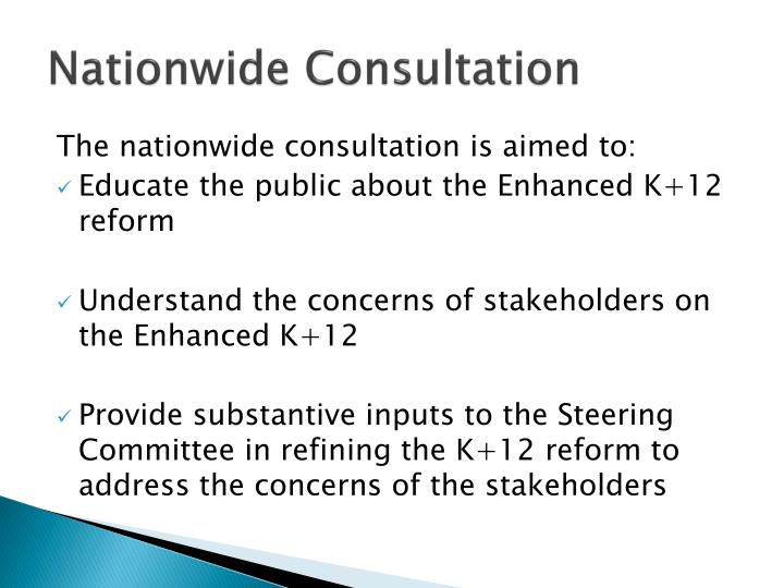 Nationwide Consultation
