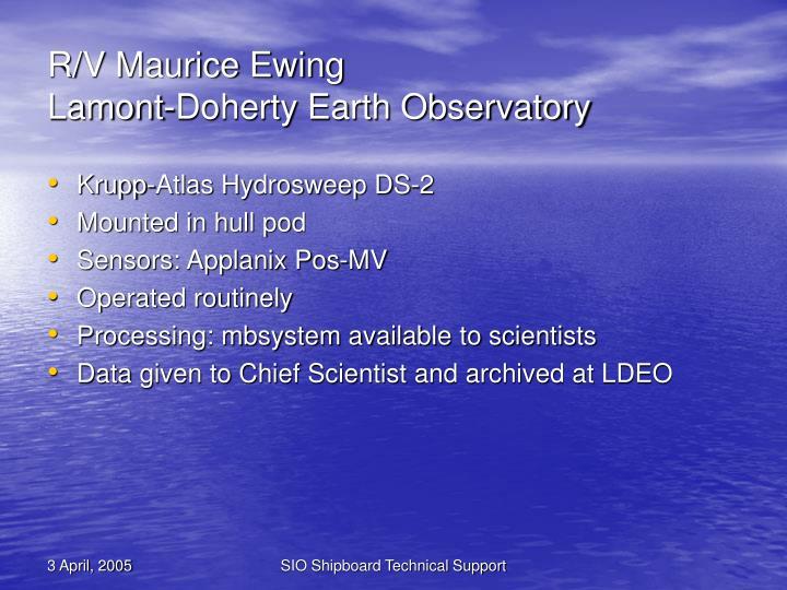 R/V Maurice Ewing