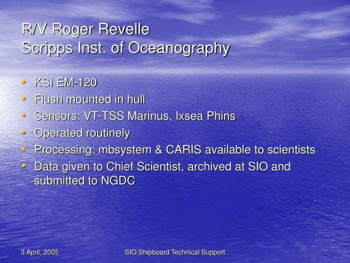 R/V Roger Revelle