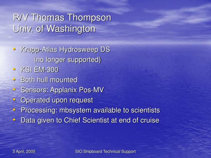 R/V Thomas Thompson