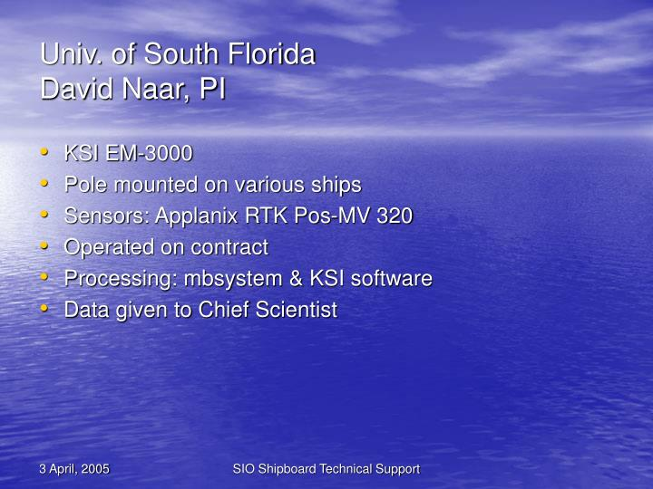 Univ. of South Florida
