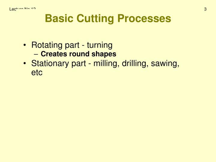 Basic Cutting Processes