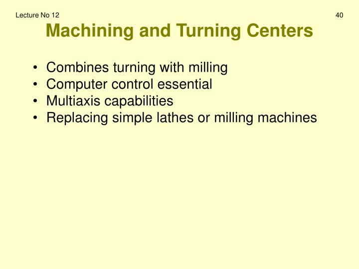 Machining and Turning Centers