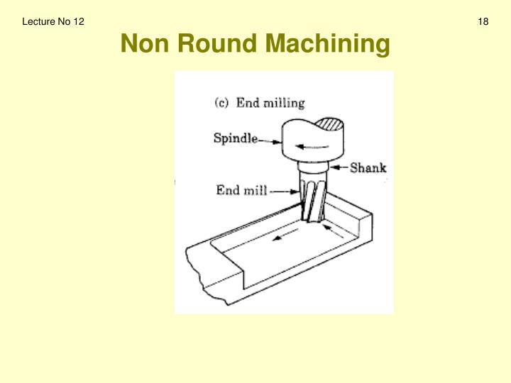 Non Round Machining