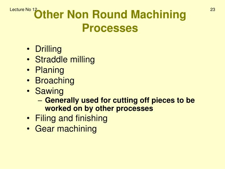 Other Non Round Machining Processes