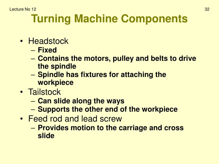 Turning Machine Components
