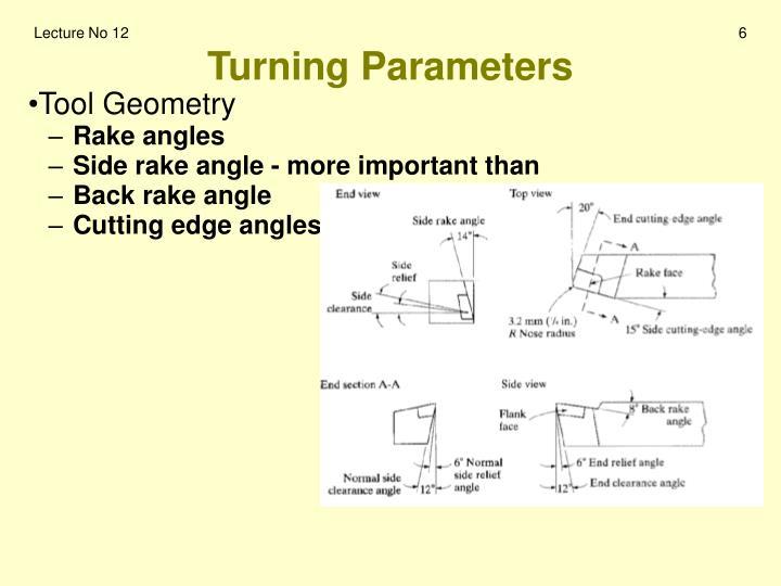Turning Parameters
