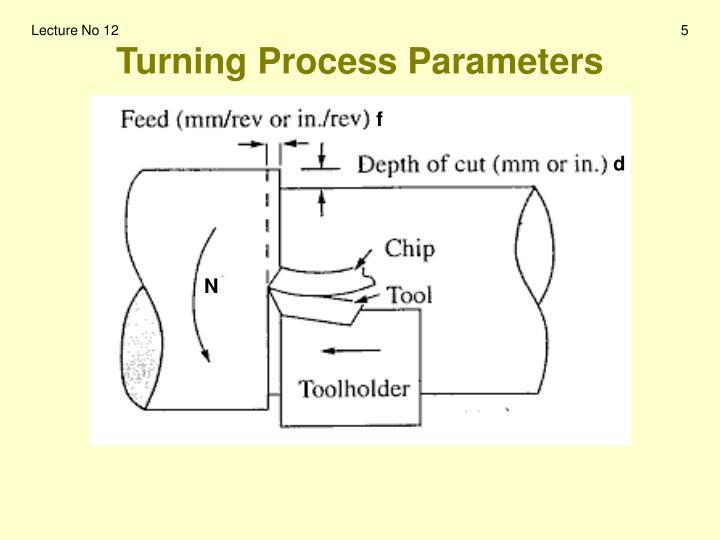 Turning Process Parameters