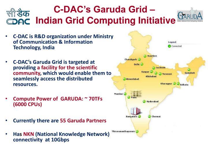 C-DAC's Garuda Grid –