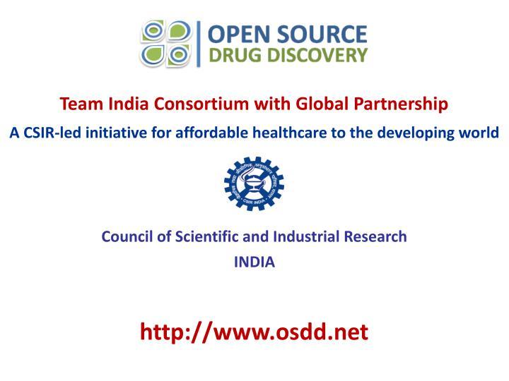 Team India Consortium with Global Partnership
