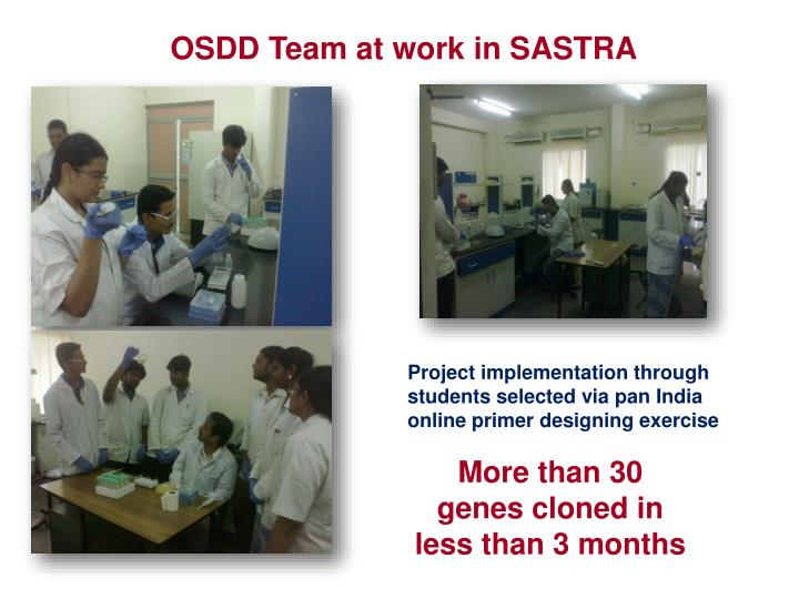 OSDD Team at work in SASTRA