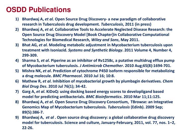 OSDD Publications