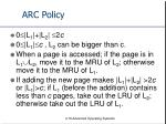arc policy