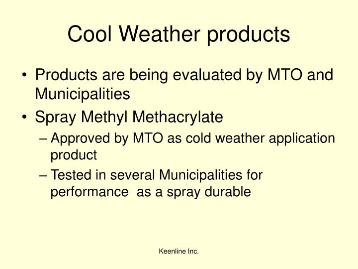Cool Weather products