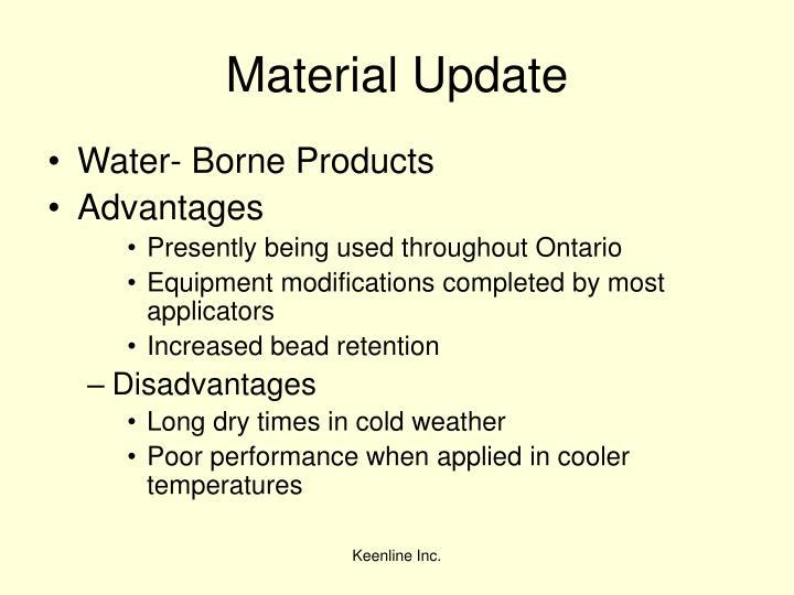 Material Update
