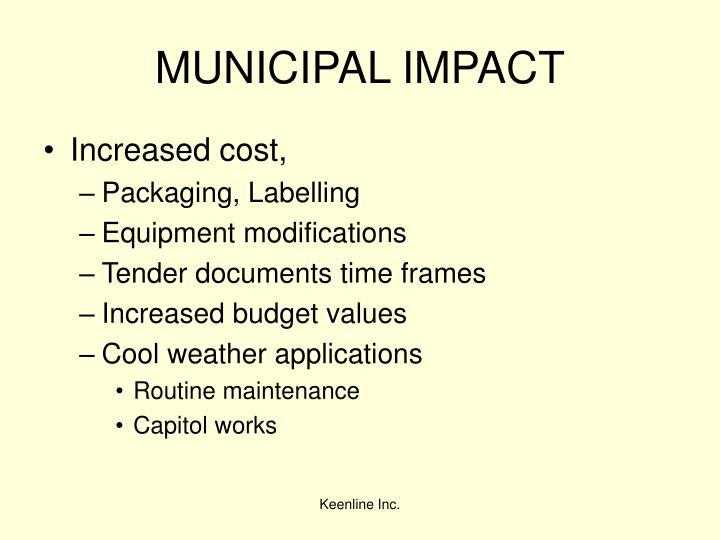 MUNICIPAL IMPACT